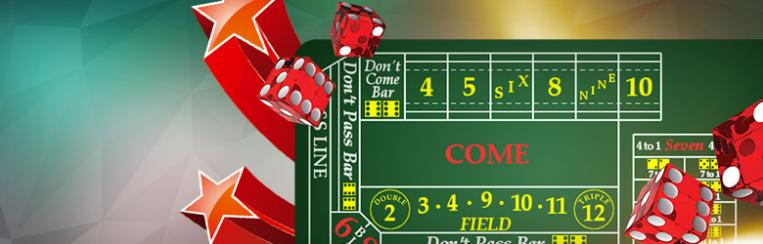 online craps table and dice
